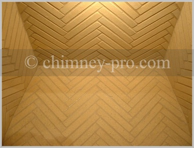Herringbone Firebrick Firebox-Yellow Split Firebricks