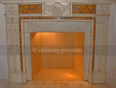 Herringbone Fireplace