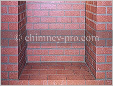Stretcher Course-Running Bond Red Firebrick Firebox