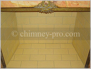 Yellow Shiner Firebrick Fireplace